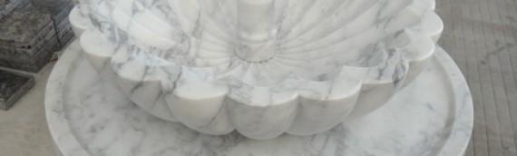 A Custom Built Alabasco Marble Fountain