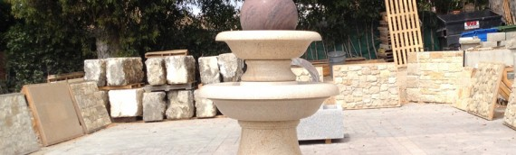 Large Granite Ball Fountain