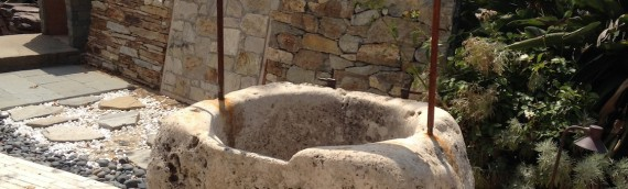 1700's French Antique Limestone Wishing Well