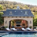 Pool House Stone Work