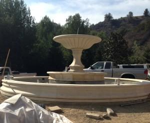 Antique Limestone Fountain